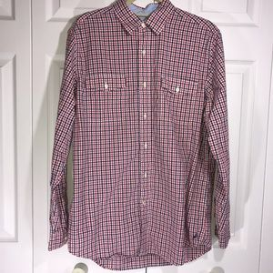 Nautica Gingham Button Up Long Sleeve Shirt Size M